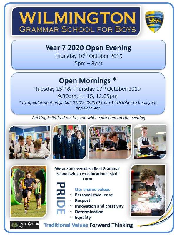 Wgsb open evening flyer 2019