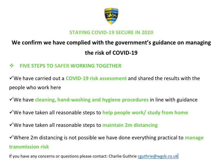 COVID risk assessment