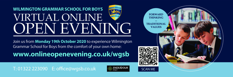 Wgsb virtual open evening banner